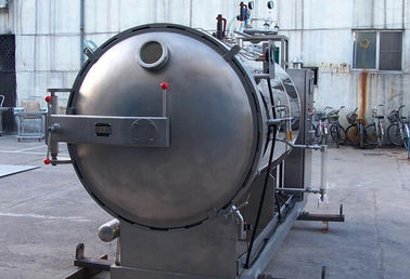 Hot Water Circulation Food Sterilization Equipment Pot Horizontal Retort Sterilizer