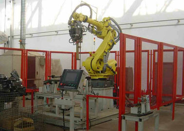 China PLC Control Robotic Palletizing System Loader For Beverage Industry factory