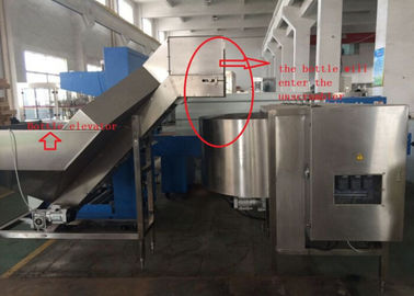 China Rotary Automatic Bottle Unscrambler PLC Control 0.7MPa 150mm - 290mm factory